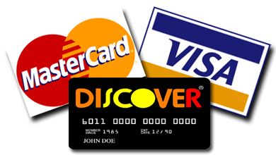 Credit Cards Accepted by CVE